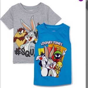 Boys Blue & Grey Looney Toons T-shirt & tank top